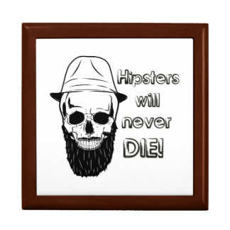 Hipsters will never die! large square gift box