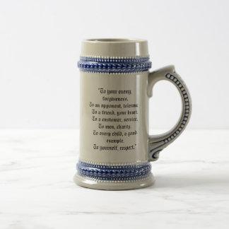 Hiram Abiff Freemason Beer Stein