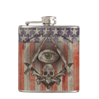 Hiram Abiff Freemasons flask with American colors