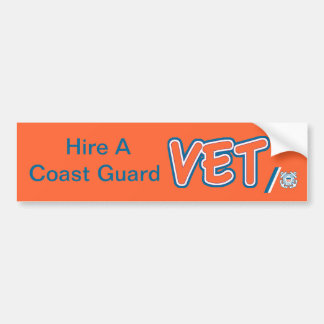 HIre A Coast Guard Vet Bumper Sticker
