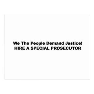 Hire a Special Prosecutor Postcard