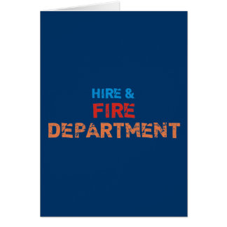 hire fire department greeting card