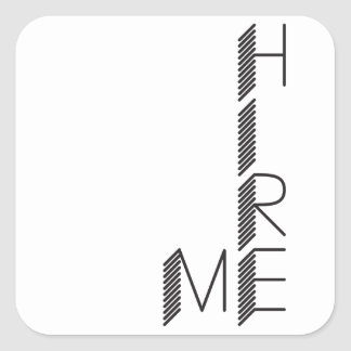 hire me square sticker