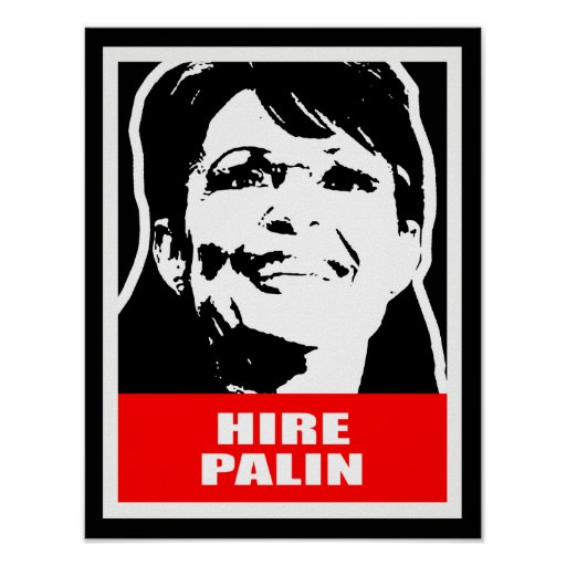 HIRE PALIN POSTER