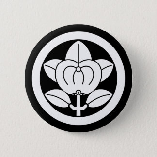 Hirone orange 6 cm round badge