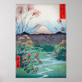 Hiroshige Ōtsuki Plain in Kai Province Poster