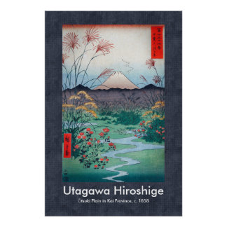 Hiroshige Ōtsuki Plain in Kai Province Scroll Poster