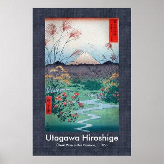 Hiroshige Ōtsuki Plain in Kai Province Scroll Poster