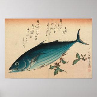 Hiroshige Skipjack Tuna Woodprint Poster