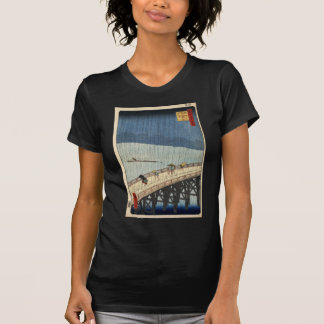 Hiroshige Sudden shower over Shin-Ōhashi bridge T-Shirt