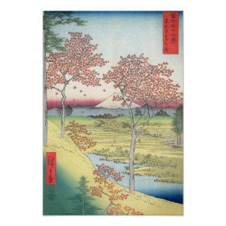 Hiroshige Sunset Hill, Meguro Eastern Capitol Poster