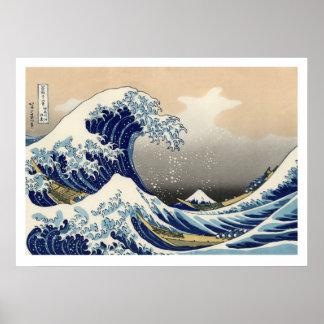 Hiroshige - The Great Wave Off Kanagawa Poster