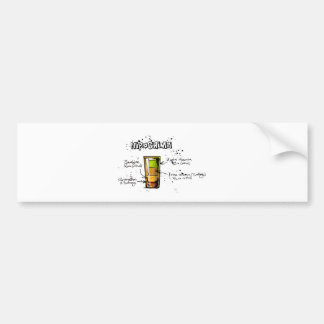 Hiroshima Cocktail  Recipe Bumper Sticker