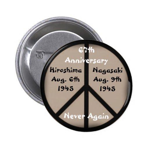 Hiroshima-Nagasaki Peace Sign Pin