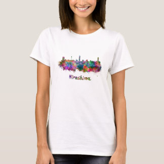 Hiroshima skyline in watercolor T-Shirt