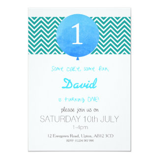 His 1st Birthday 13 Cm X 18 Cm Invitation Card