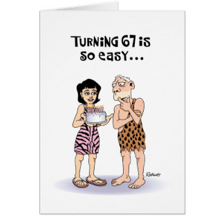 His 67th Birthday Greeting Card