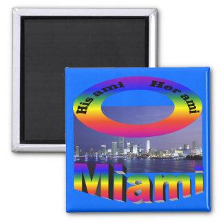 His Ami, Her Ami - Miami Square Magnet