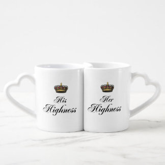 His and Her Highness mug set