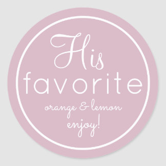 His and Her lilac favorite wedding favor stickers
