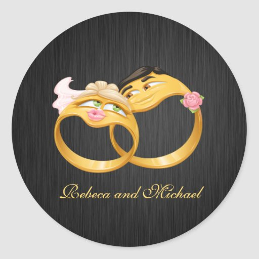 His and Her Wedding Rings Stickers