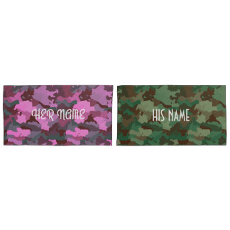 His and Hers Camo Pillowcase