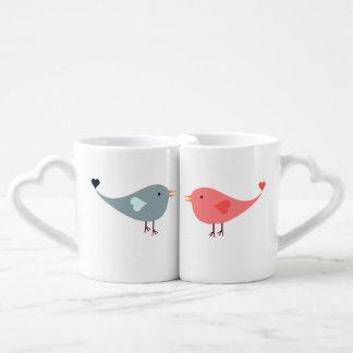 His And Hers Love Birds Coffee Mug Set