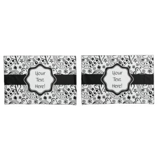 His And Hers Personalized Hearts Love Pattern Pillowcase