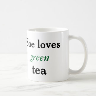 His and Hers: She Loves Green Tea Mug