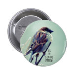 HIs eye is on the Sparrow 6 Cm Round Badge