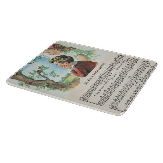 His Eye Is On The Sparrow Glass Cutting Mat Cutting Board