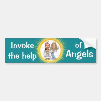 HIS & HER ANGELS bumper sticker