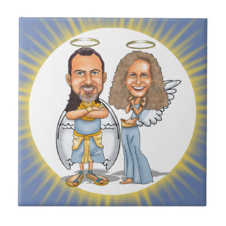 HIS & HER ANGELS ceramic tile