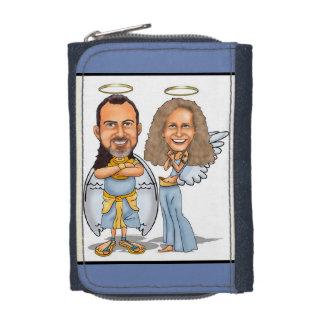 HIS & HER ANGELS denim wallet