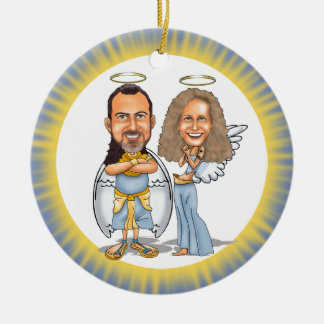 HIS & HER ANGELS ornament