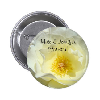 His Her Name forever buttons Rose Flower Brides