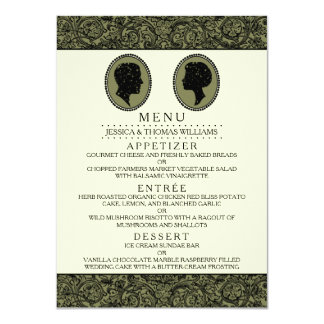 His & Hers Art Deco Silhouette Wedding Collection 11 Cm X 16 Cm Invitation Card