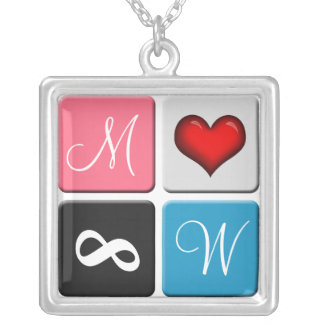 His & Hers Initials ~ Forever Love Necklace