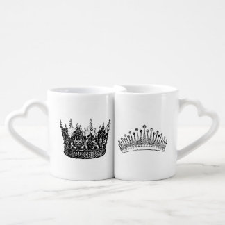 His & Hers nesting mugs King & Queen design