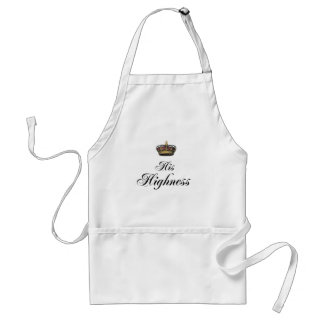 His Highness (part of his and hers set) Adult Apron