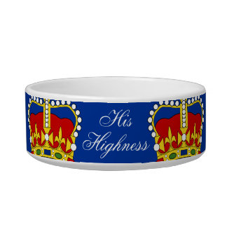 His Highness Pet Bowl customizable