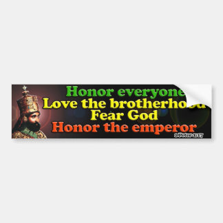 His Imperial Majesty Emperor Haile Selassie I Bumper Sticker