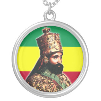 His Imperial Majesty Emperor Haile Selassie I Silver Plated Necklace