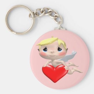 His Little Heart T-shirts and Gifts Basic Round Button Key Ring