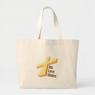 His Love Shines Tote Bag