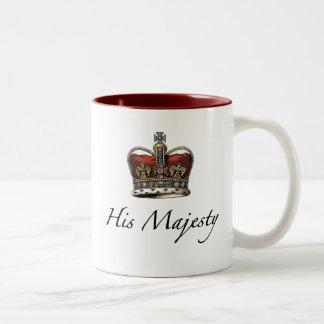 His Majesty, His Highness Two-Tone Coffee Mug