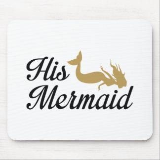 His Mermaid Mouse Pad