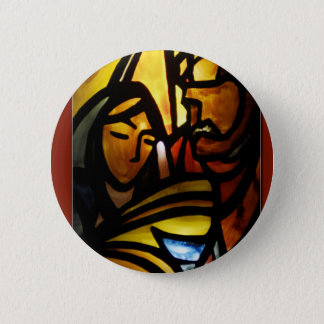 his name shall be emmanuel 6 cm round badge