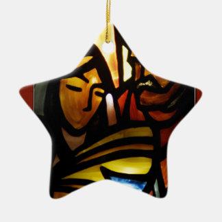 his name shall be emmanuel ceramic ornament