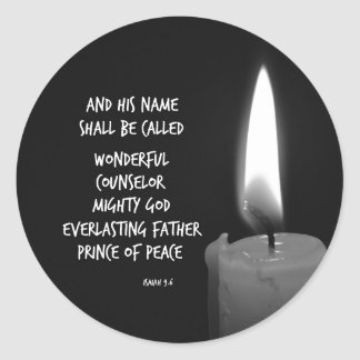 HIs name shall be Prince of Peace Bible Verse Classic Round Sticker